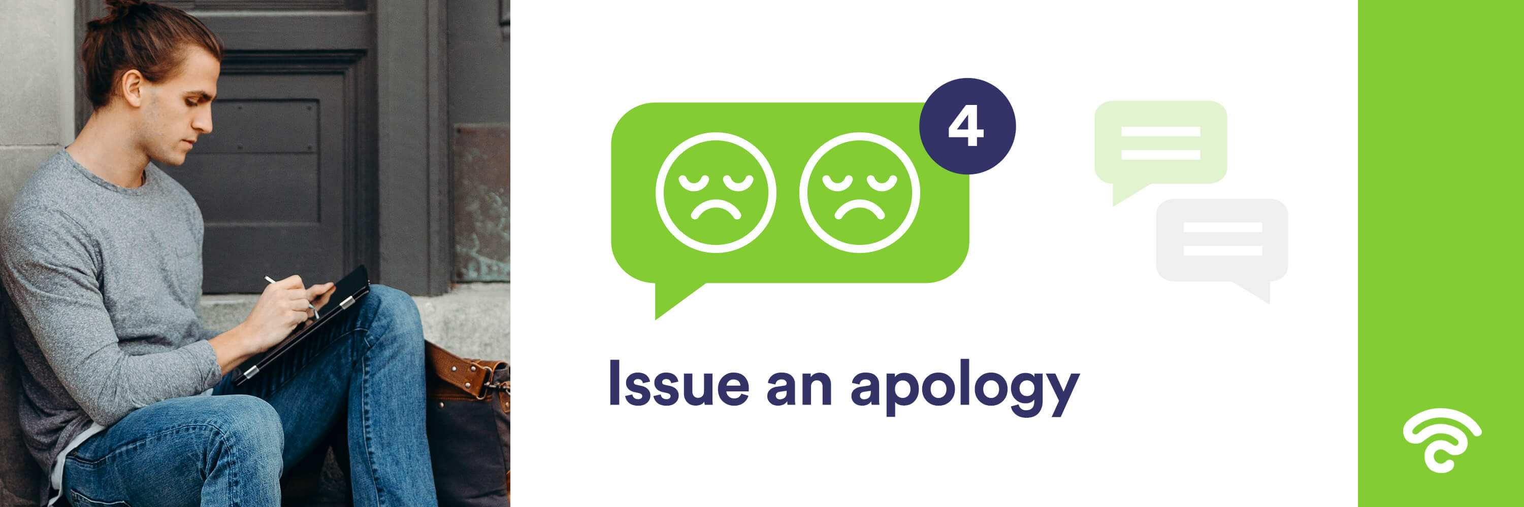 Issue an apology