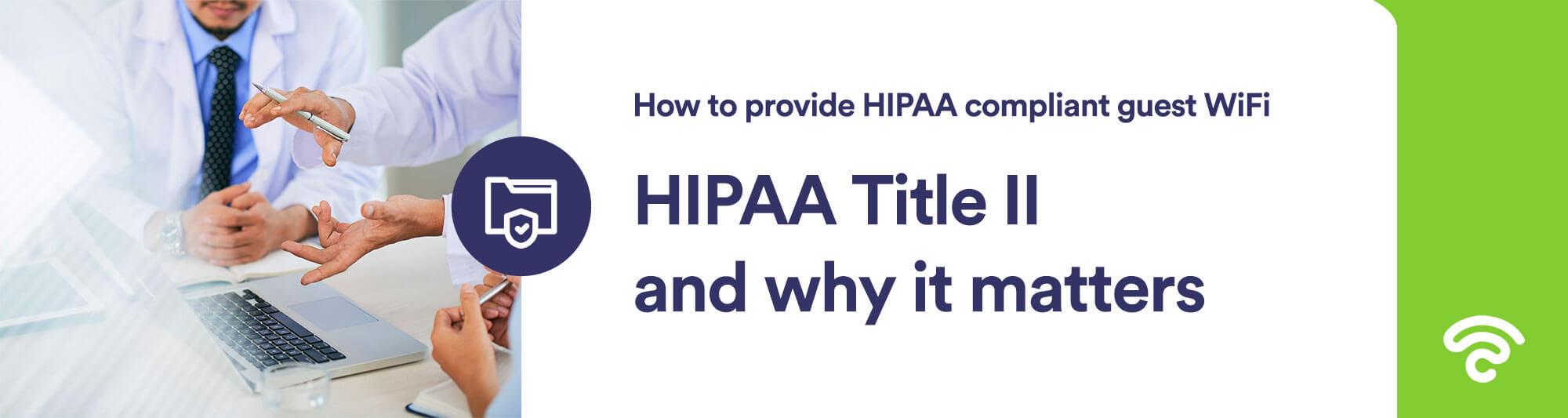 HIPAA Title II