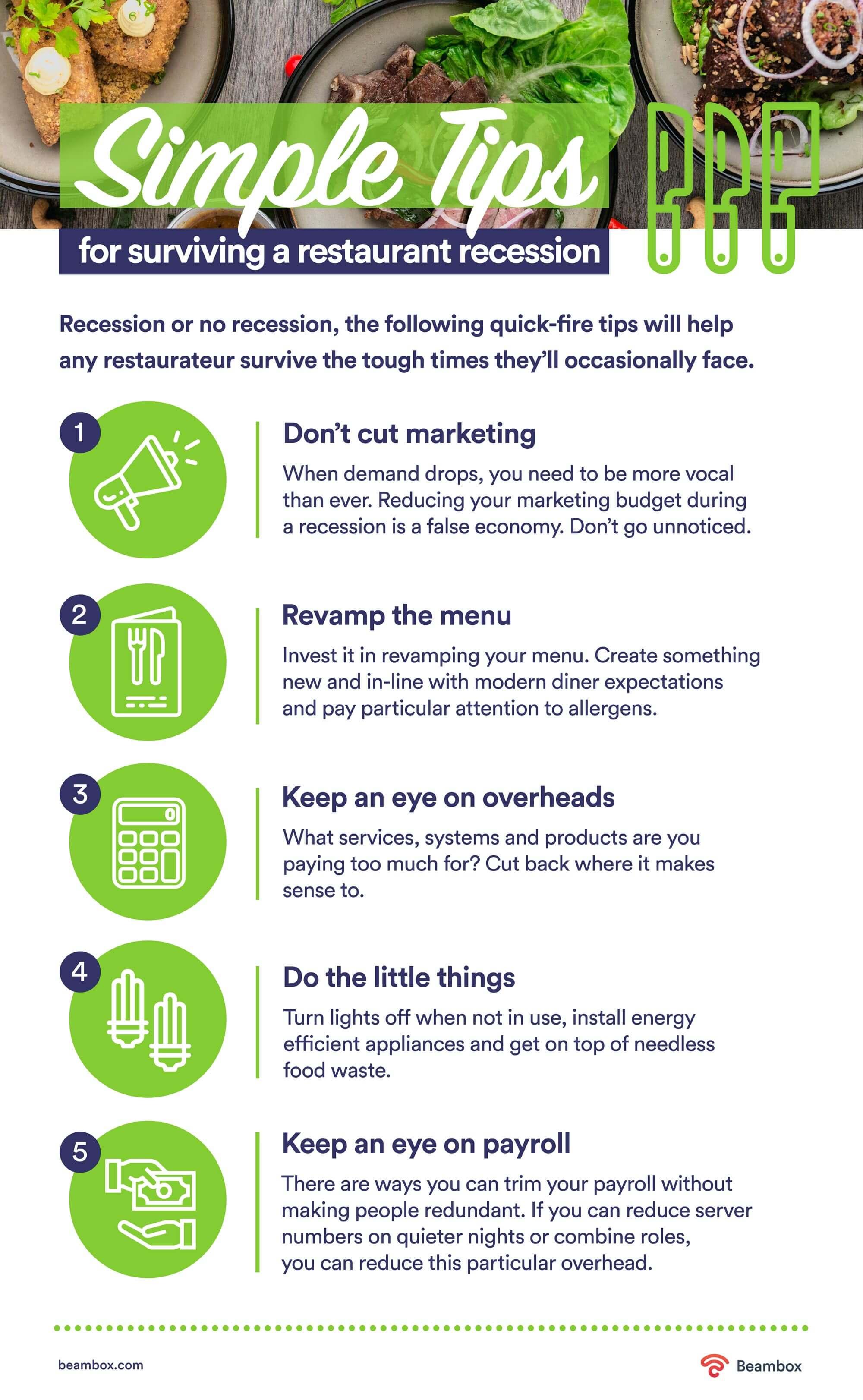 recession marketing tips for restaurants