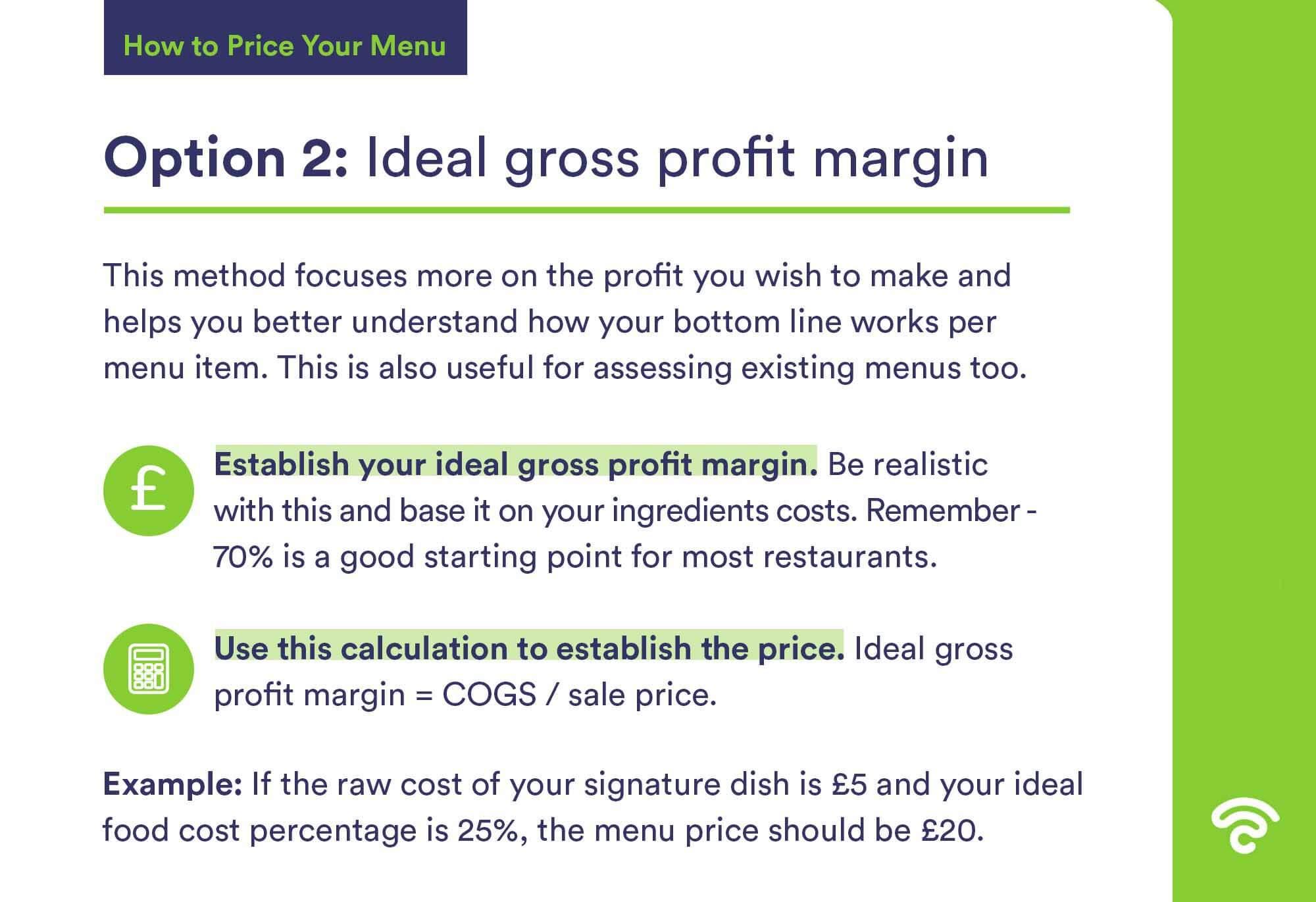 ideal gross profit margin calculation