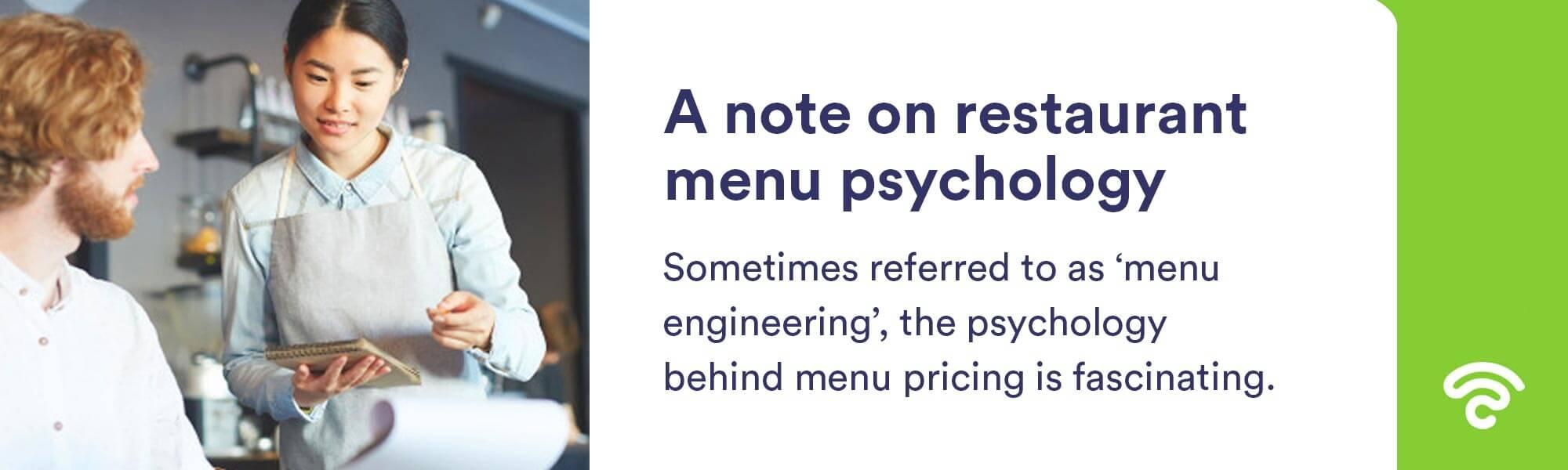 menu pricing philosophy