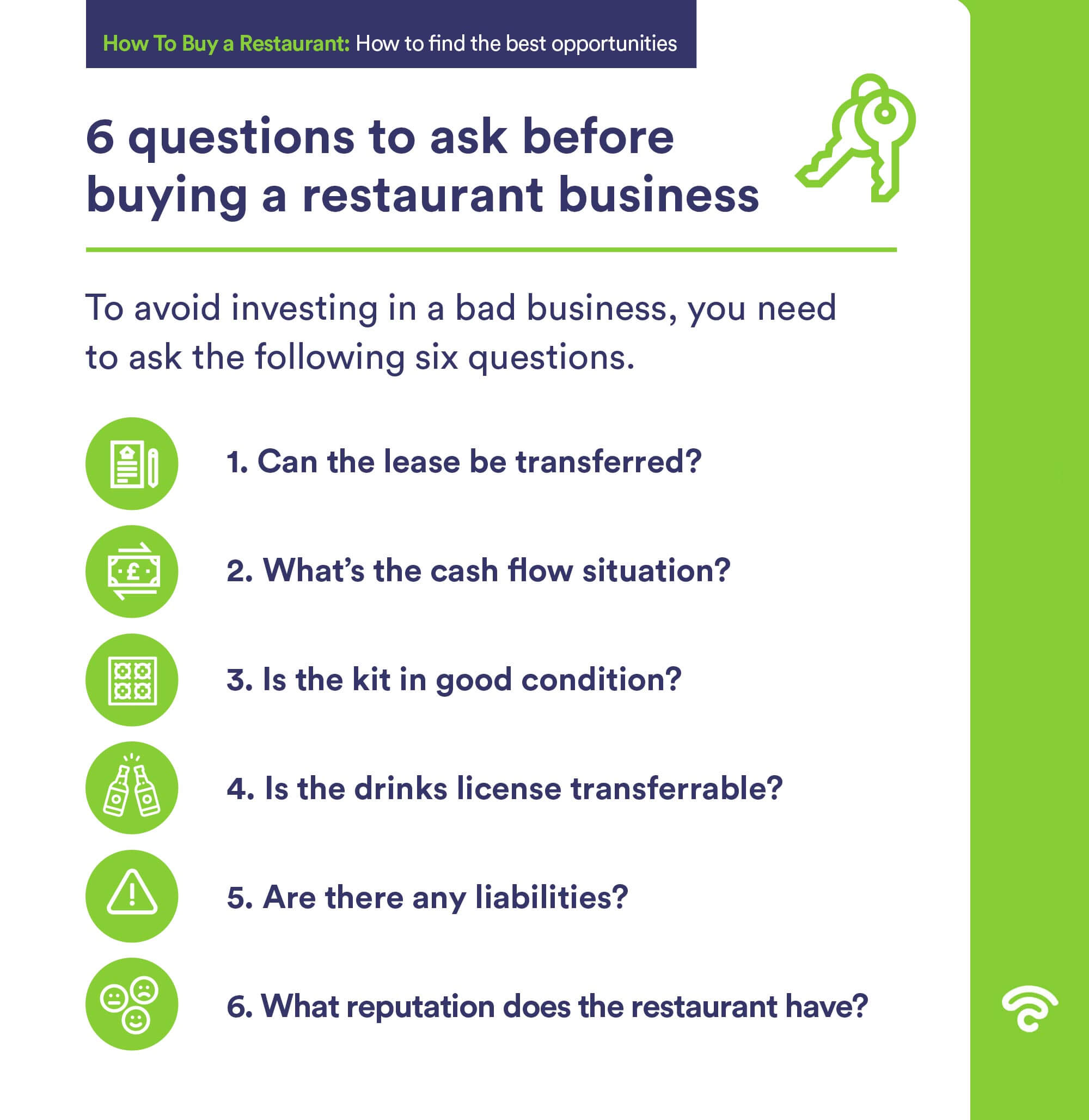 what to ask when buying restaurant business