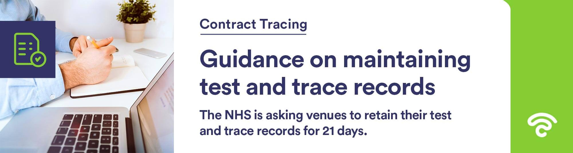 how to keep test and trace records uk