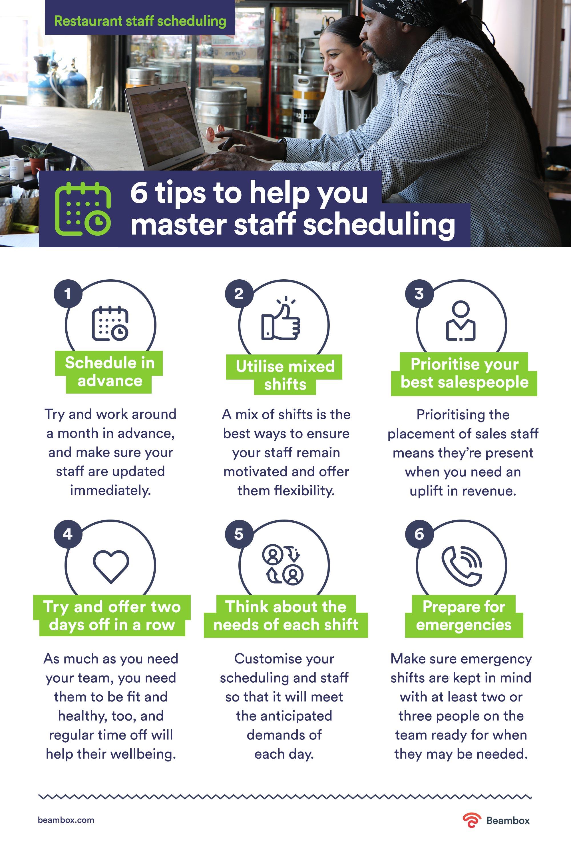 staff scheduling tips for restaurants