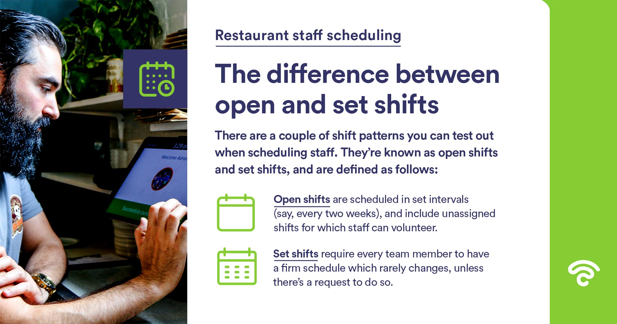 difference between open and set shifts
