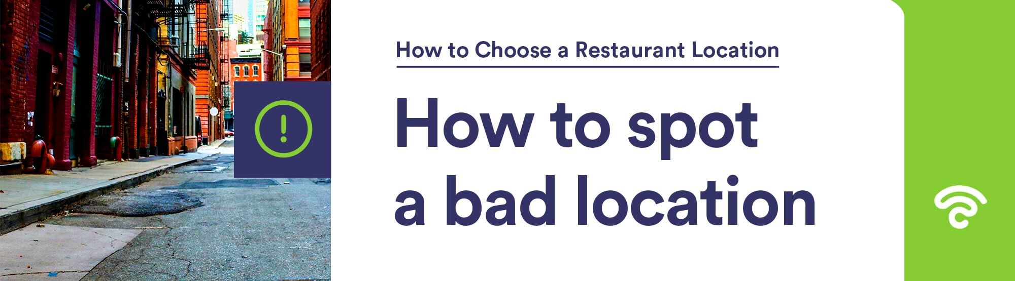 how to spot bad restaurant location
