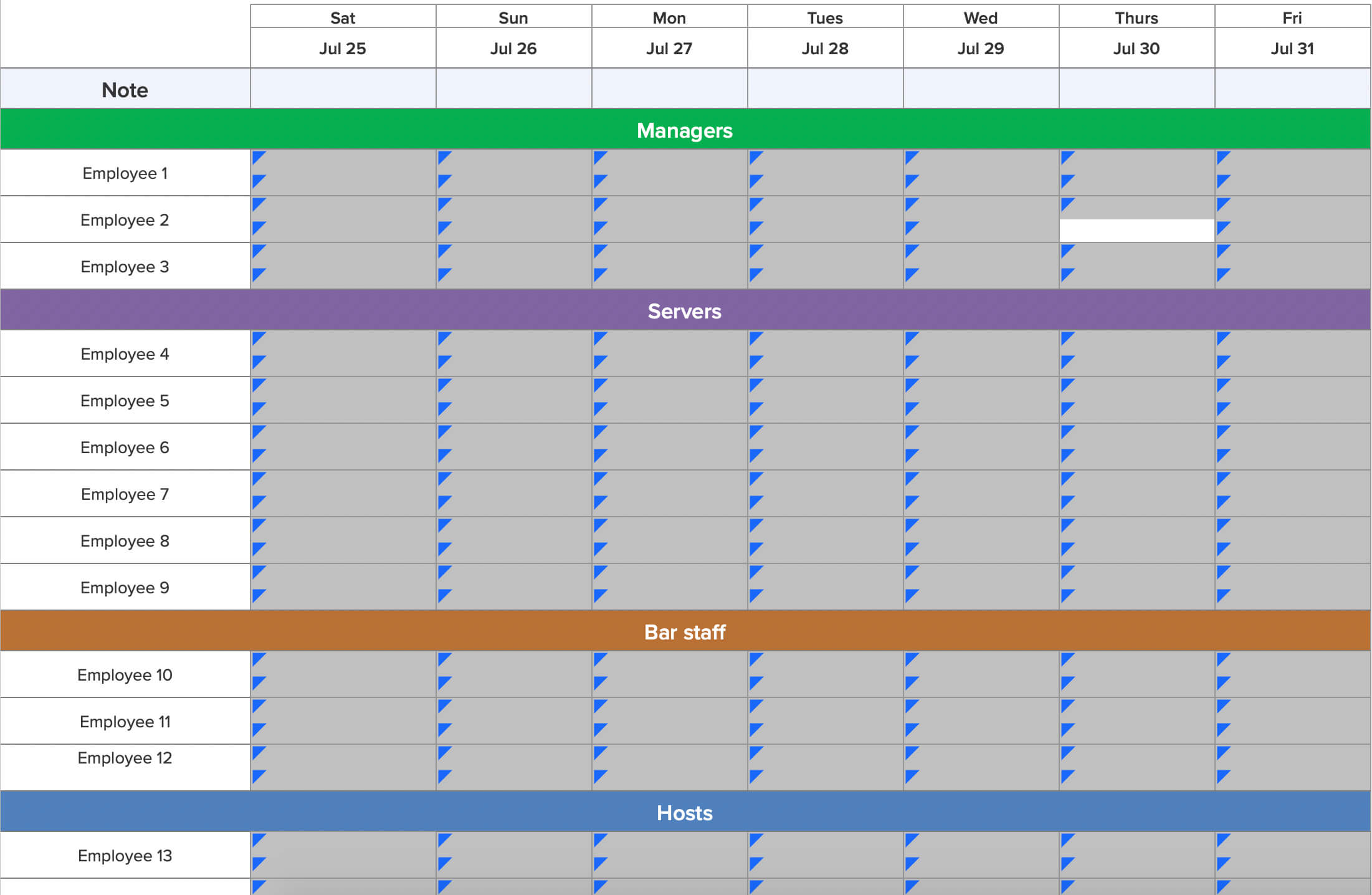 Spreadsheet Preview