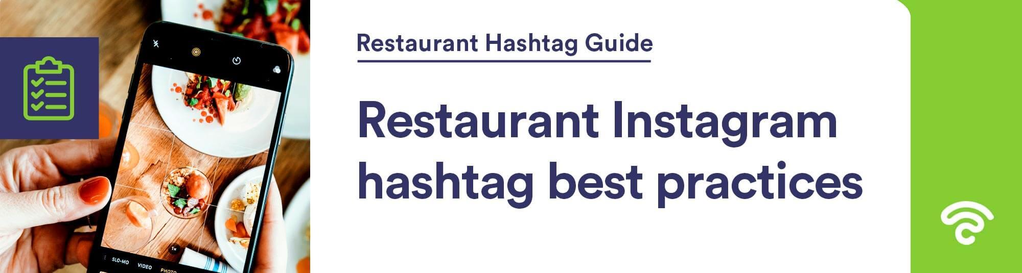 restaurant hashtag best practices