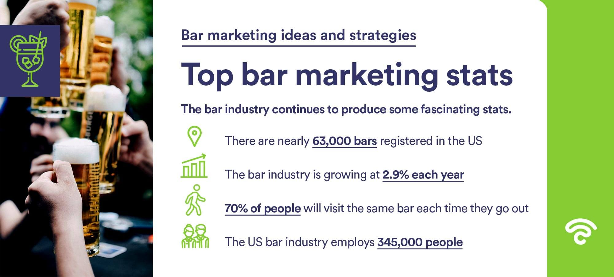 top bar marketing stats