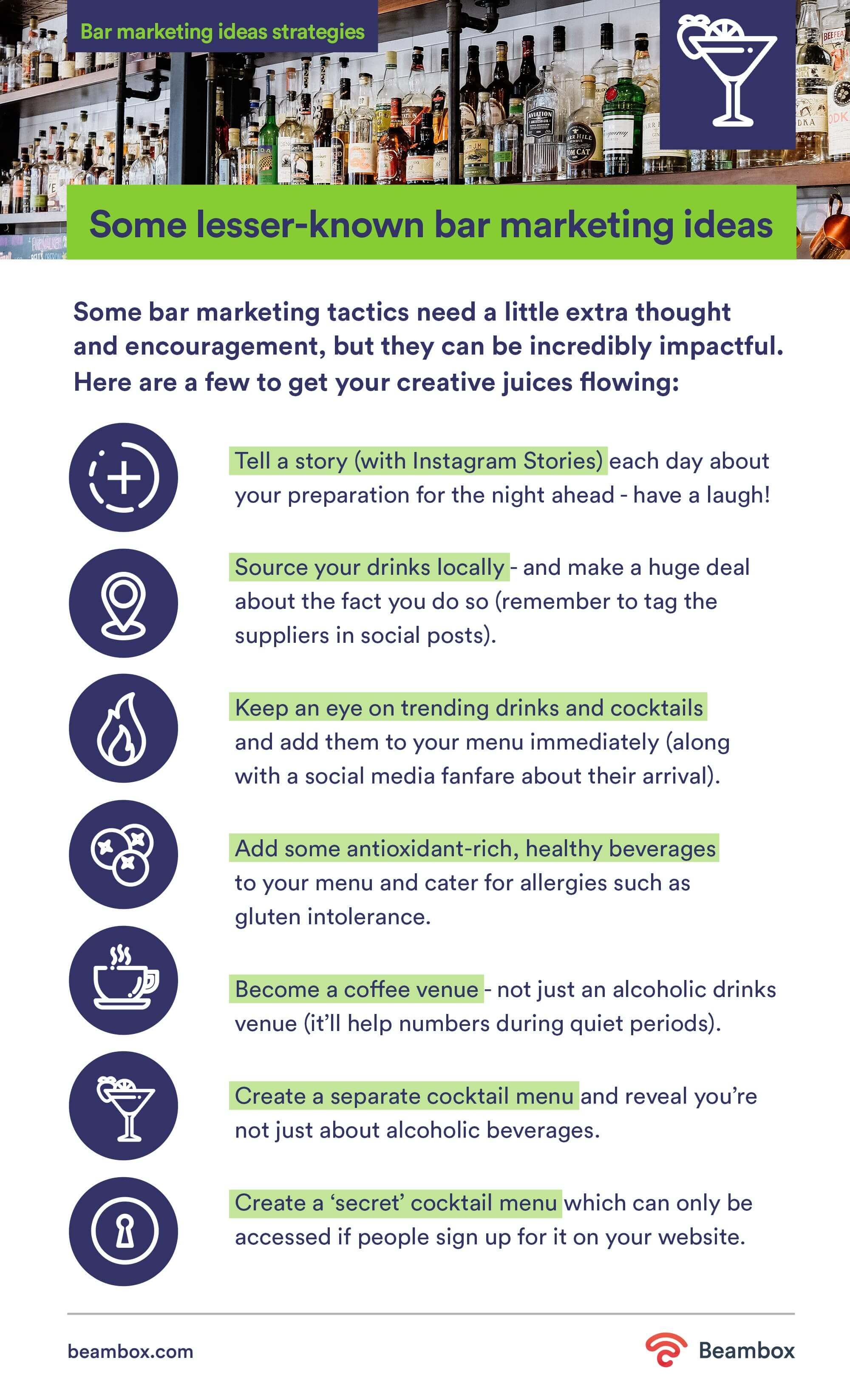 bar marketing ideas